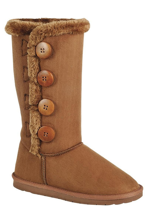The Christa Collection Four Button Tan Winter Boots