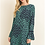 Thumbnail: Navy and Green Floral Ombre Dress