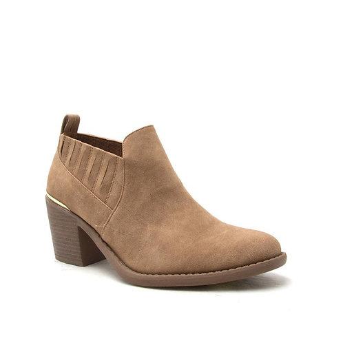 Toffee Block Heel Booties