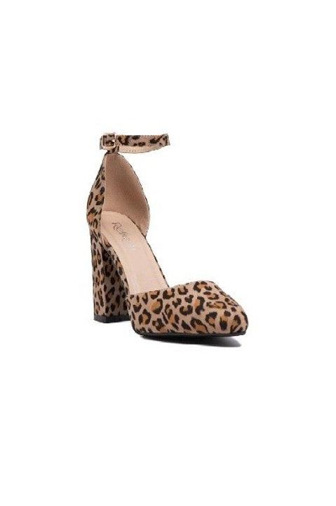 Leopard Ankle Strap Pumps