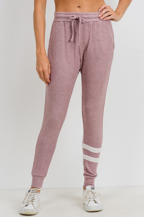 Pink Striped Jogger Sweatpants