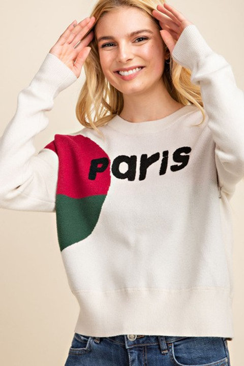 Paris Colorblock Knit Sweater