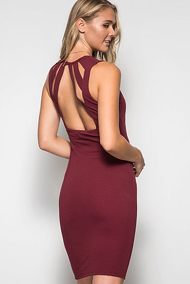 Cut Out Back Cocktail Dress