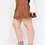 Thumbnail: Brown Faux Suede Mini Skirt