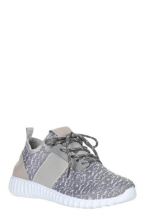 Gray Mesh Upper Sneakers