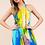 Thumbnail: Blue Watercolor Halter Maxi Dress