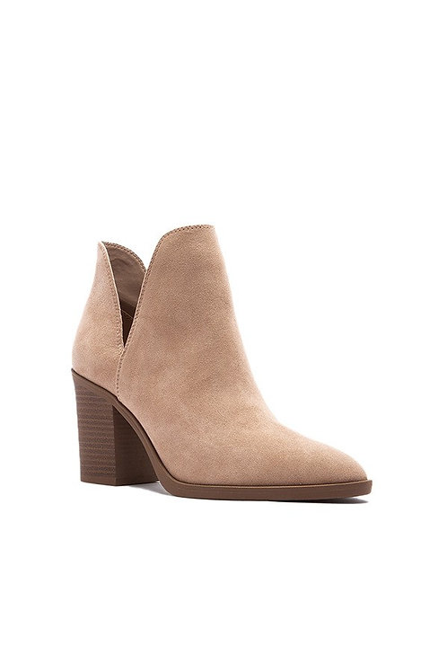 Taupe Side Cut Booties