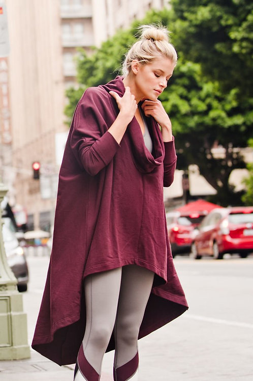 Burgundy Long Tunic Top