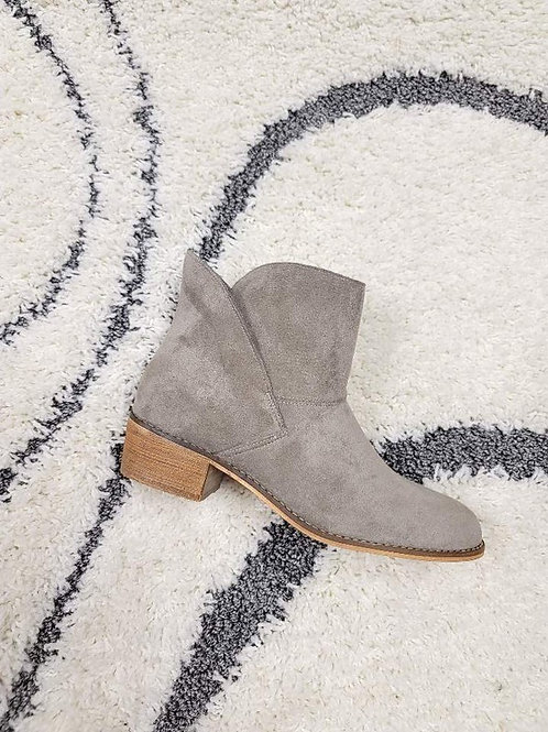 Cement Gray Ankle Boots