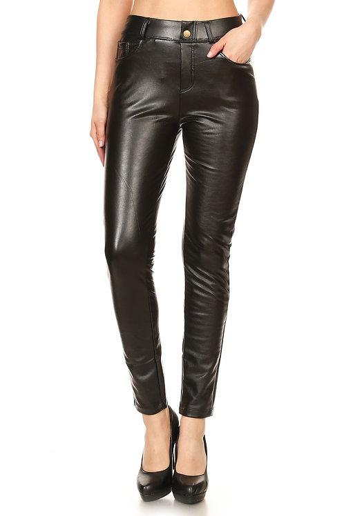 Black Vegan Leather Pants
