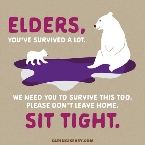 Elders Sit Tight Tan