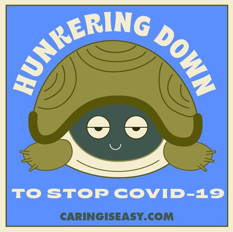 Hunkering Turtle Blue