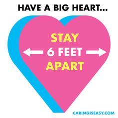 6 Feet Apart Heart