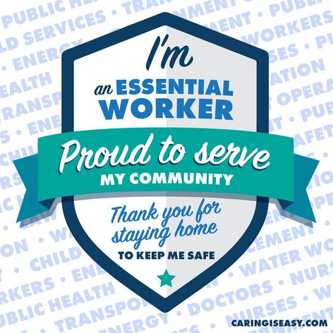 Essential Worker Teal