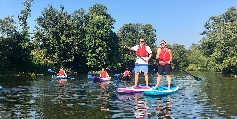 Group Paddleboarding and Kayaking