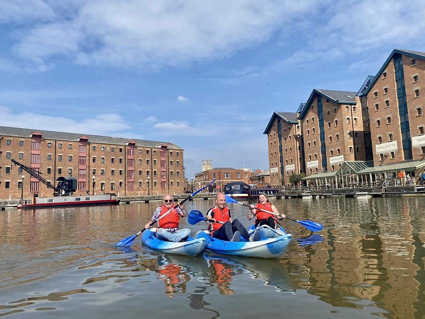 Kayaking group Gloucester Dock.heic