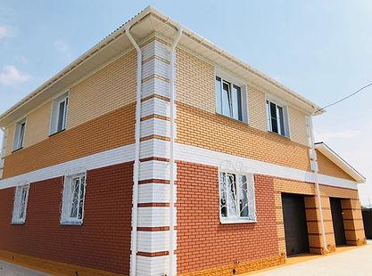 покрашенный кирпичный дом покрашенный резиновой краской супер декор раббер