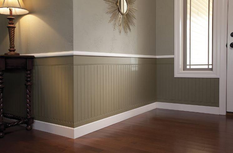 резиновая краска для деревянных панелей  в матового цвета