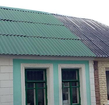 шиферная крыша покрашенная цветом ондулин зелёный