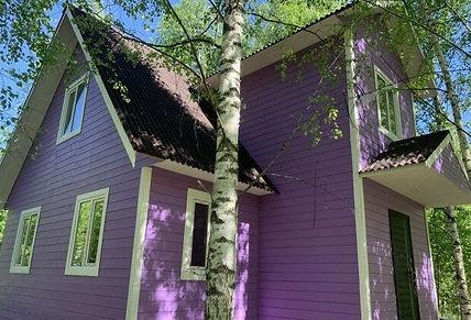 дом покрашенный резиновой краской в цвет норвежский дом