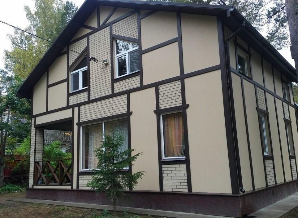 дом из асбеста покрашен резиновой краской супер декор