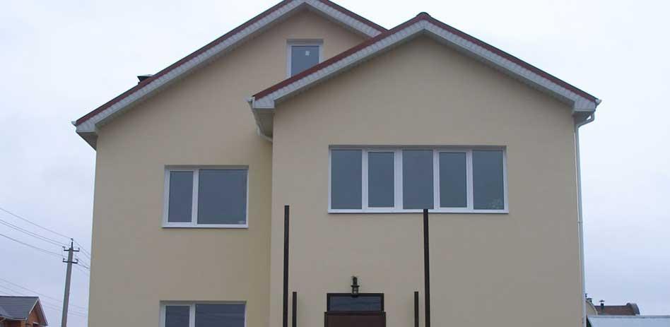 покрашенный дом из арболита резиновой краской супер декор раббер