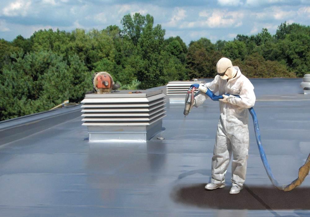 Гидроизоляция крыши резиновой краской