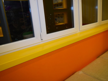 Резиновая краска для подоконника из дерева, бетона, пластика и металла.