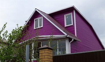 фасад покрашен цветом №8 Норвежский дом.