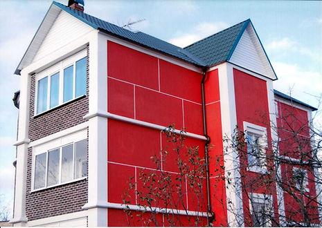 фасад покрашен резиновой краской Super Decor цвето №5 Алые паруса