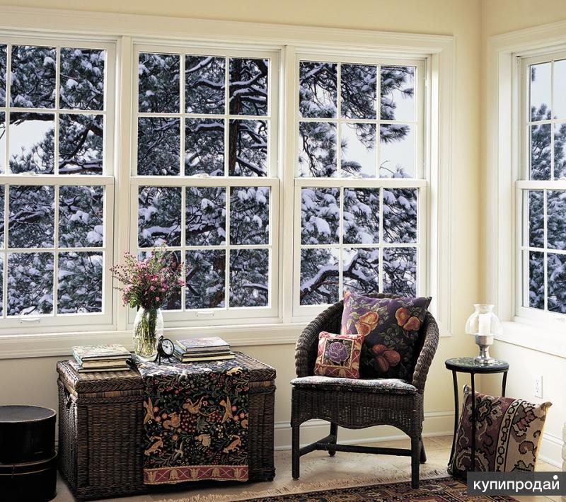 покрашенное окно в белый цвет