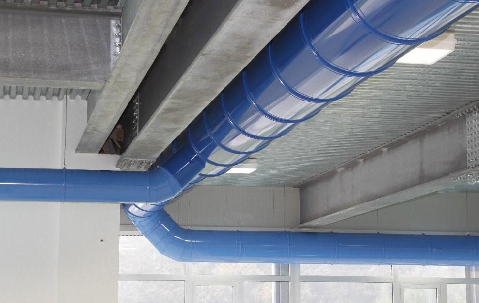 вентиляция покрашена резиновой краской супер декор в синий цвет