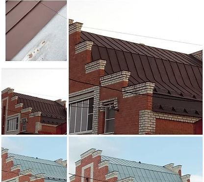 оцинкованная крыша покрашенная резиновой цветом арабика