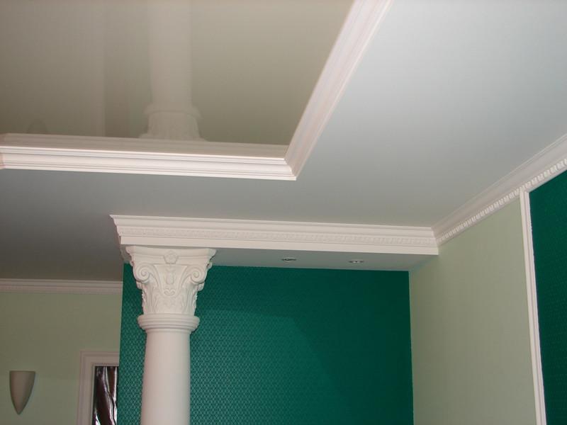 красим потолки из гипса резиновой краской супер декор