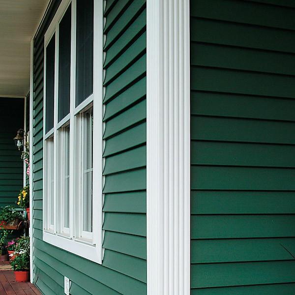 дом покрашенный резиновой краской в темно-зеленый цвет