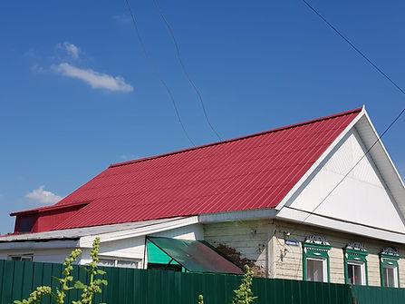 Оцинкованная крыша покрашенная цветом дикая вишня резиновй краской супер декор раббер цветом №4 Дикая вишня
