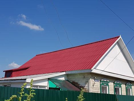 Оцинкованная крыша покрашенная цветом дикая вишня резиновй краской супер декор раббер