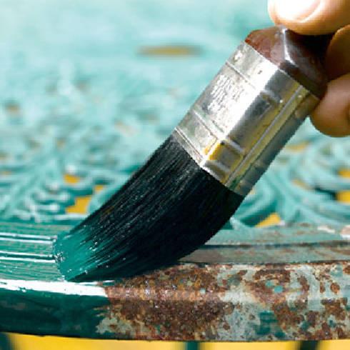 Красим цветной металл по ржавчине в зеленый цвет