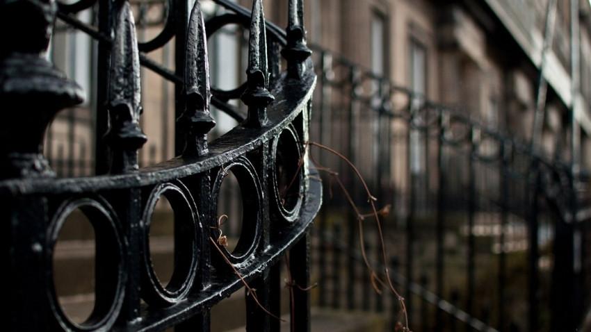 забор покрашенный резиновой краской