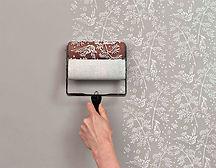 фактурная краска на стене с узорами