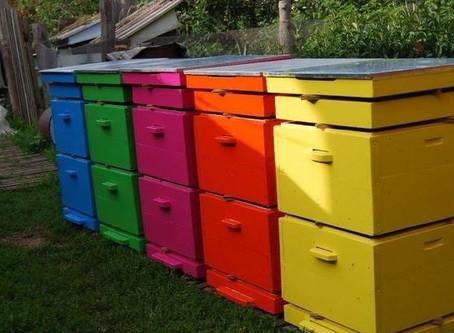 Резиновая краска для покраски улей