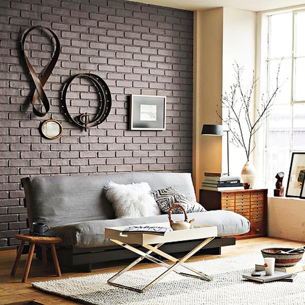 покрашенный декоративный камень в серый цвет