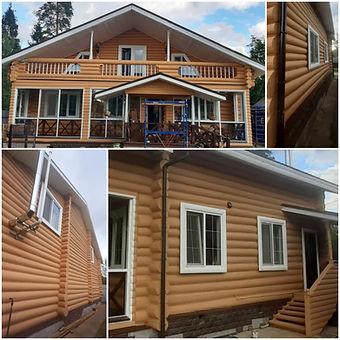 дом покрашен редом покрашен резиновой краской Super Decor цветом №16 Топлёное молоко