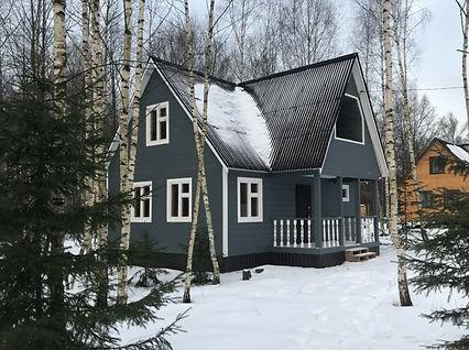 дом покрашенный резиновой краской супер декор раббер в цвет ортехника