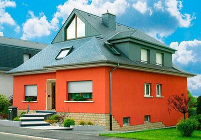 дом покрашенный фасаной краской