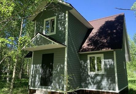дом покрашенный резиновой краской в цвет оргтехника