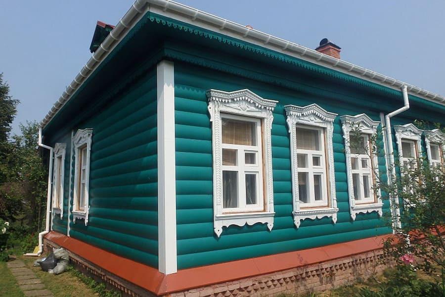 блок-хаус покрашенный резиновой краской супер декор