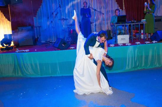 От такого первого танца молодых у гостей только самые потрясающие эмоции! Отличные ребята! Компания по организации событий. Лучшие танцевальные блоки.