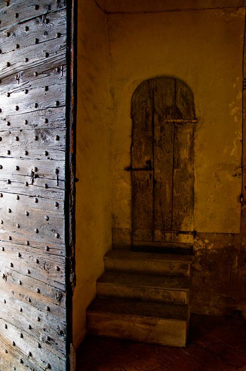 Door behind the gate