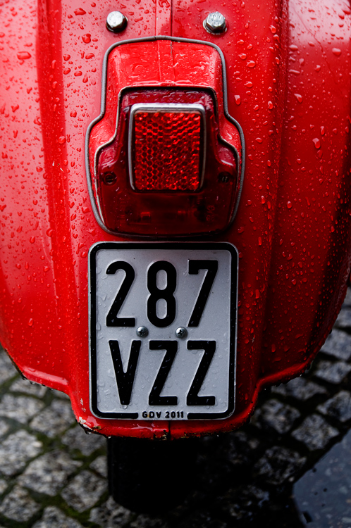Red scooter 1